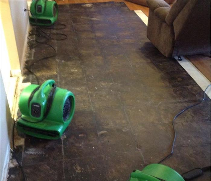Flooded Laminate flooring in Natchitoches, LA After